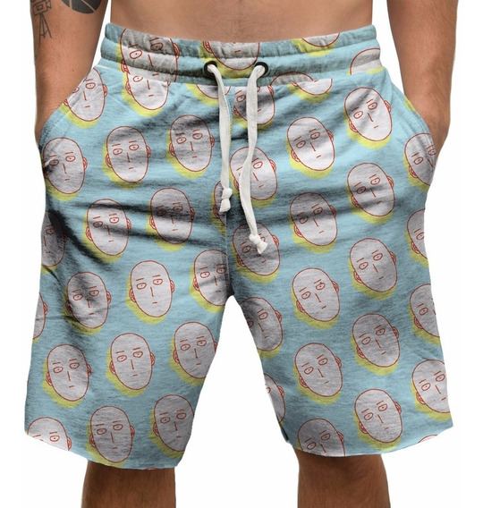 Bermuda One Punch Man Saitama Shorts Anime Skate Doodle Geek