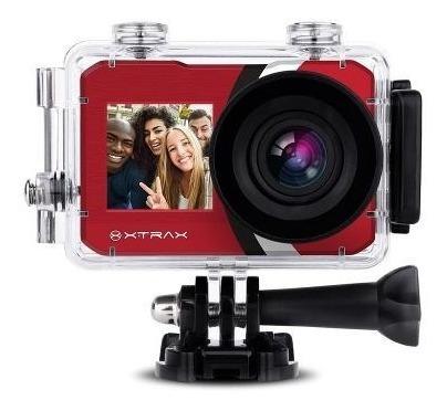Câmera Xtrax Selfie 4k Vermelha 801021 C Nota E Garantia