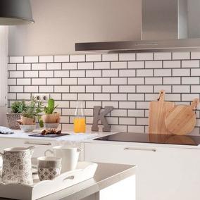 Vinilos decorativos cocina vinilos decorativos en for Cocina con azulejos blancos