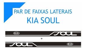 Kit Faixas Laterais Kia Soul Par Tuning Qualidade Total Top