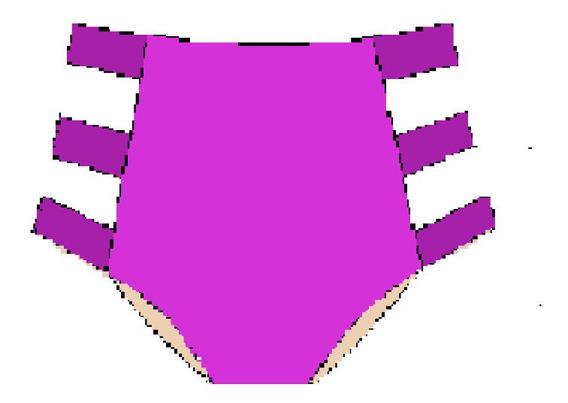 Molde Calcinha Biquini Hot Pant Com Tiras P, M , G, Gg
