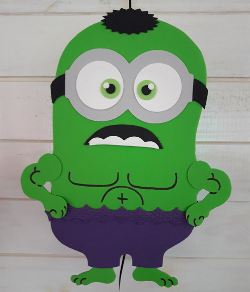 Piñata Minions Hulk Super Heroes Artesanal