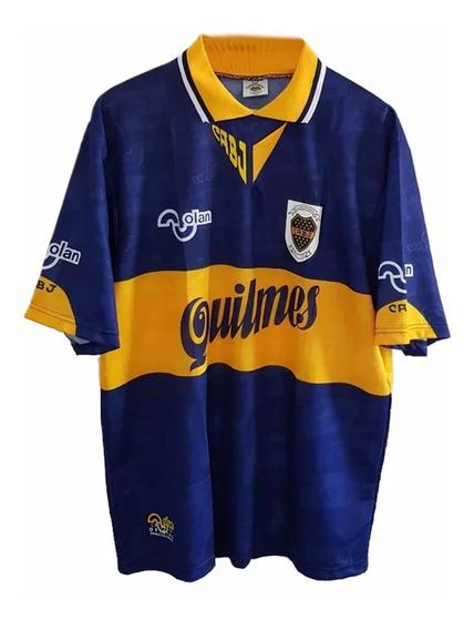 Camiseta Boca Olan 1995 Maradona Caniggia