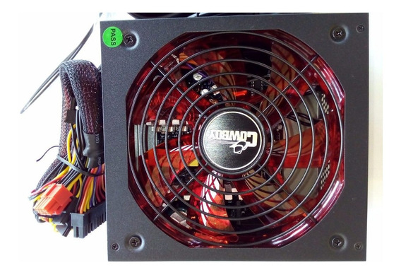 Fonte Gamer Atx 600 Watts Reais Super Silenciosa Com Led