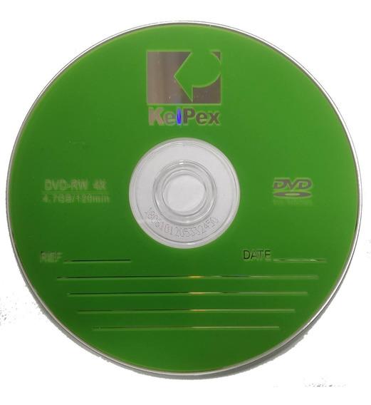 Kit C/10 Dvd Rw Kelpex 4,7 Gb - Apagavel, E Grava Novamente