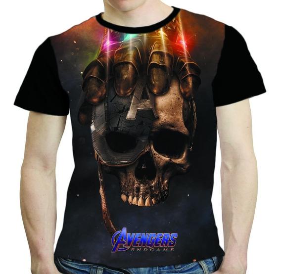 Camisa Avengers Camiseta Capitão America Vingadores Endgame
