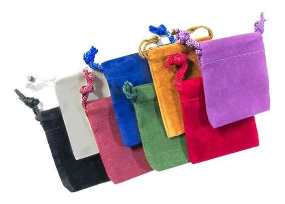 80 Mini Bolsas De Terciopelo Para Joyería Colores Surtidos