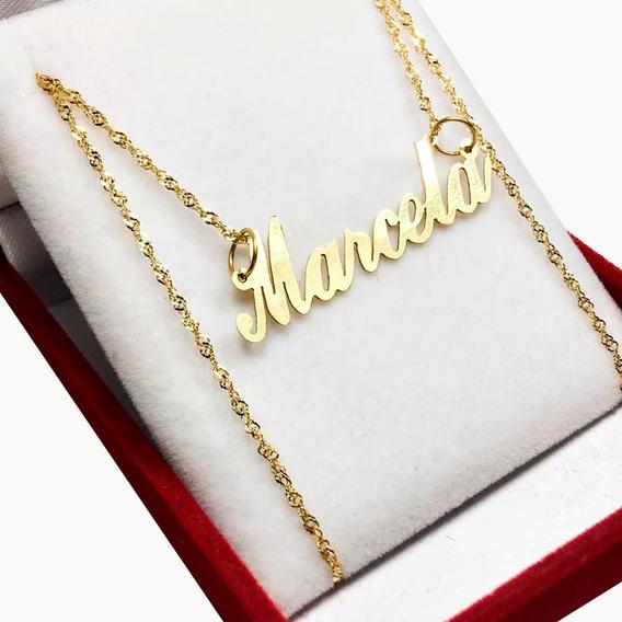 Cadena Oro Singapur 45 Cm Con Tu Nombre Oro 18 K Mujer 15