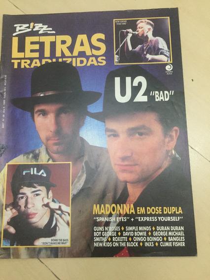 Revista Bizz Letras Traduzidas 49 U2 Madonna Smiths H474