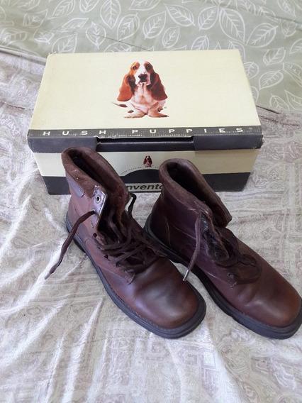 Botas Borcegos De Cuero Huss Puppies N°38 Marron 1 Uso!!!