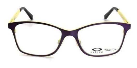 Oculos De Grau Masculino Oakley Armação Metal Roxo