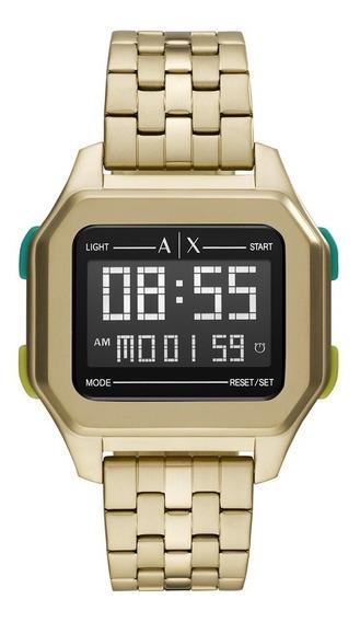 Relógio Armani Exchange Shell Masculino Dourado Ax2950/1dn