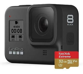 Gopro Hero 8 Black + Sandisk Extreme 32 Bundle