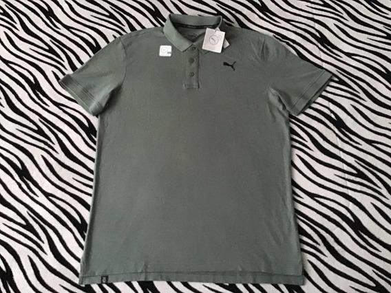 Playera Tipo Polo Puma (talla L) 100% Original Camisa Verde