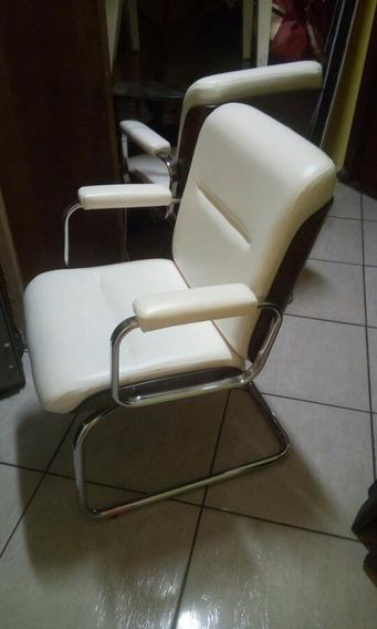 Cadeira Fixa Modelo Poltrona Forração Couro Ecológico