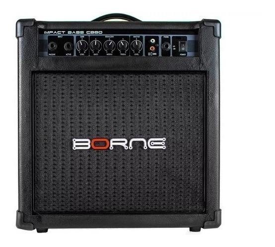 Amplificador Cubo Borne Impact Bass Contra Baixo Cb80 30w