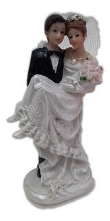 Topo De Bolo Casamento Casal Noivos Noivinhos Resina 11 Cm