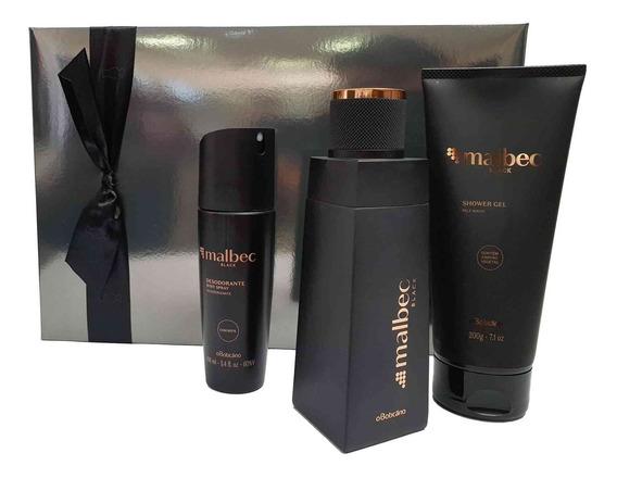 Perfume Malbec Black, O Boticário Kit Natal 2019