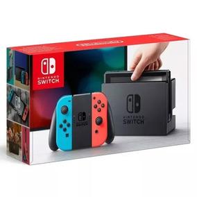 Nintendo Switch 32gb Colorido E Cinza Só Em Mãos