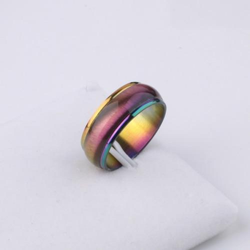 Anillo Modelo Arco Iris De Acero Inoxidable Cambio De Color