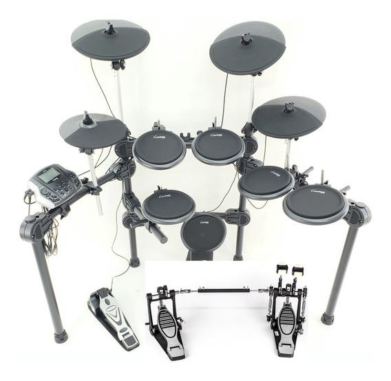 Bateria Eletrônica Custom Drums Pro Dual Zone Pedal Duplo