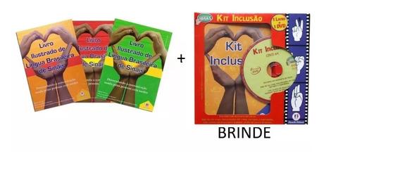 Livros Ilustrados De Língua Brasileira De Sinais + Brinde