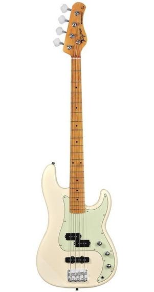 Contrabaixo Tagima Woodstock Tw65 Branco Vintage 4 Cordas