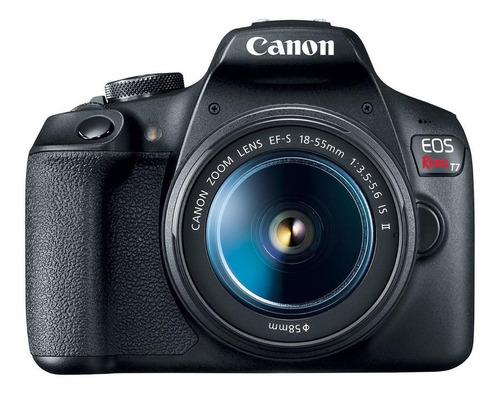 Canon EOS Rebel T7 18-55mm III Kit DSLR cor preto