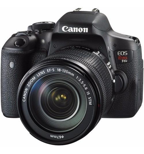 Câmera Canon Eos Rebel T6i C/ 18-135mm Stm 24.2m 12x S/juros
