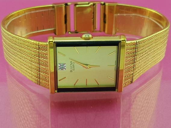 Relógio Bulova 92r06 Original, Diamante 12 Hs, Tom Ouro.