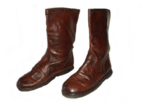 Botas De Cuero De Hombre Caña Alta Nº43 Suela 30cm