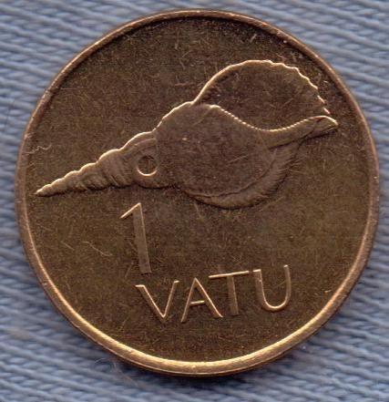 Vanuatu 1 Vatu 1999 * Caparazon * Escudo *