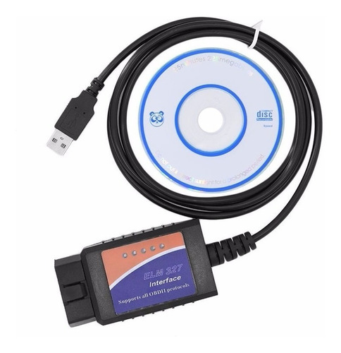 Scanner Automotriz Elm327 Obd2 Multimarca - + Cd - Usb + Mania-electronic