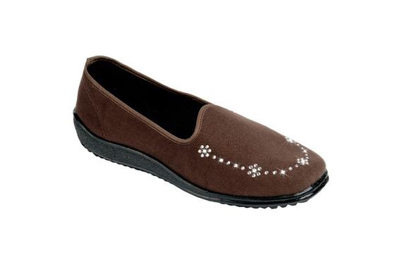 Tovaco Zapato Casual Para Mujer Color Cafe Y Negro