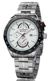 Relógio De Marca Curren 8148 Masculino Aço Inox Original Nfe