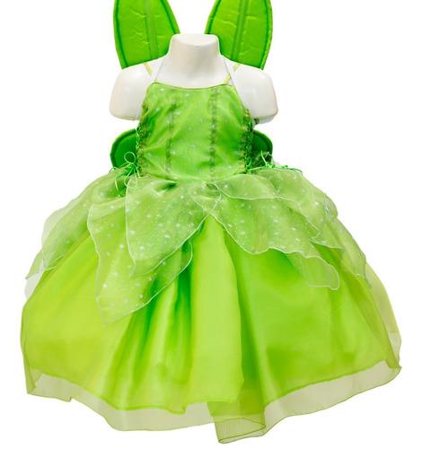 Vestido Campanita Princesa Disfraz