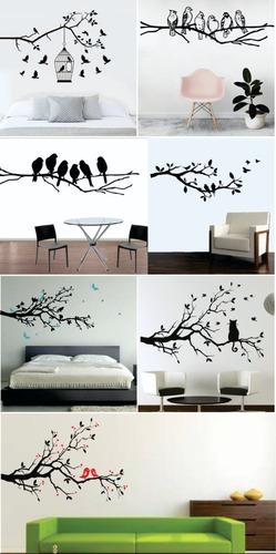 Vinilos Decorativos Pared Ramas Y Pájaros