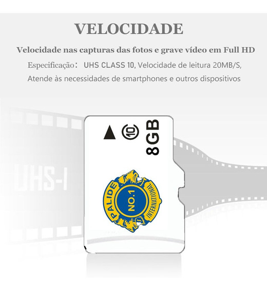 Cartao Micro Sd 8gb Tf Classe 10 Cartão De Memoria