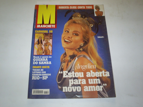 Revista Manchete 2394 21-2-98 Roberta Close - Angelica