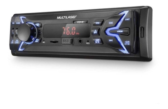 Som Automotivo 1 Din Mp3 4x25wrms Rádio/ Usb/ Aux Multilaser
