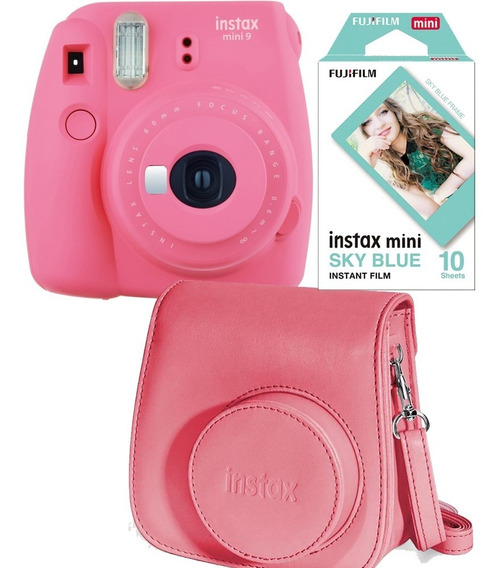 Fuji Instax Mini 9 Polaroid Rosa 10 Fotos Carterita Oficial
