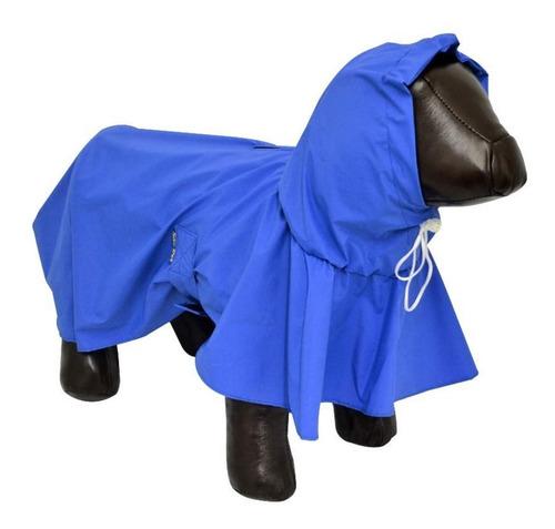 Capa De Chuva Cães Cachorro Raça Pequena Tam Pp Azul 25x48cm