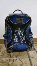 Mochila Star Wars Clone Wars Rodinhas Usada Perfeito Estado