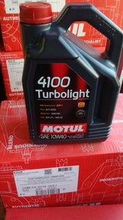 Aceite Motul 4100 Turbolight 10w40 X 4 Lts Motovega
