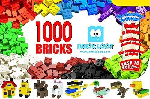 Bloques De Construccion De Juguetes 1000 Ladrillos Colores C