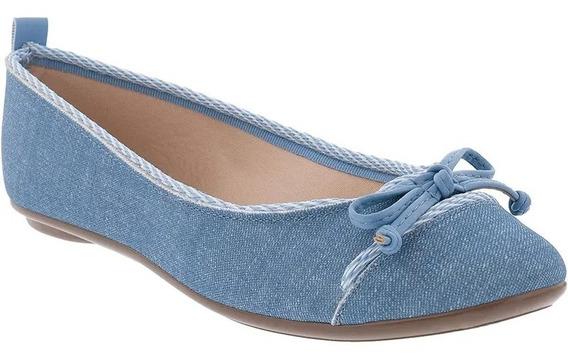 Sapatilha Feminina Moleca Jeans Fresh Laço 5695.102