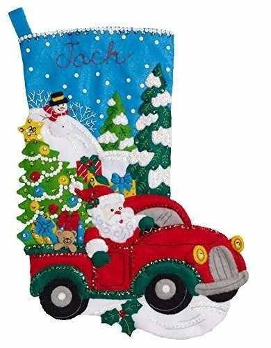Imagen 1 de 2 de Bucilla Original Bota Navideña Santa Christmas Drive Navidad