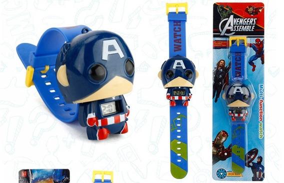 Relógio Infantil Capitão America Promoção!!!