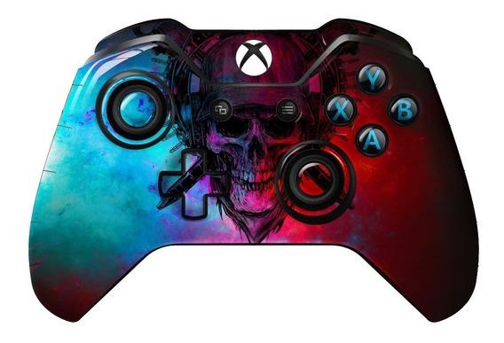 Skin Controle Xbox One Caveira Colorida Skull 2 Unidades