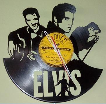 Elvis Disco De Vinilo Reloj  Arte Decoracion